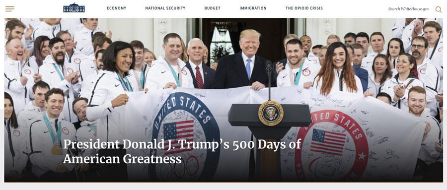 O site oficial.govdaCasa Branca(Estados Unidos) também usa o WordPress. Quem poderia imaginar isso?