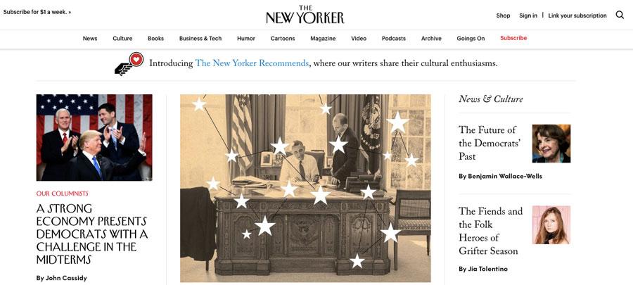 Todo o ecossistema do tradicional site norte-americano de notíciasThe New Yorkeré executada no WordPress.